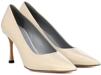 The Row Champagne leather pumps