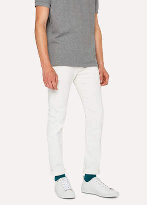 Paul Smith Men's Slim-Fit White Jeans