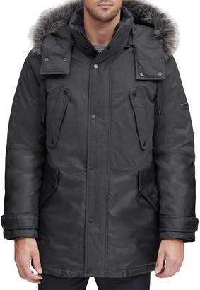 Andrew Marc Faux Fur Hooded Parka