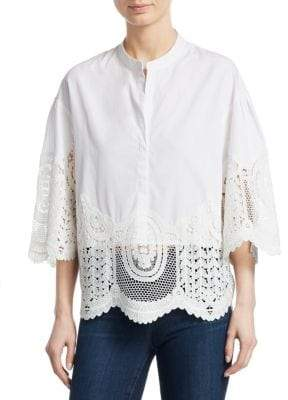 Maje Woman Lor Off-the-shoulder Lace Top White Size 2 Maje Buy Cheap Amazing Price Pre Order Cheap Price Excellent U48gntQ25o