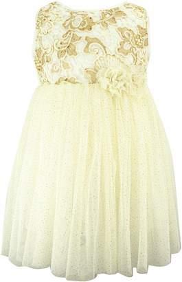 Popatu Golden Flower Tulle Dress