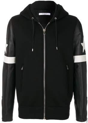 Givenchy contrast hooded bomber jacket