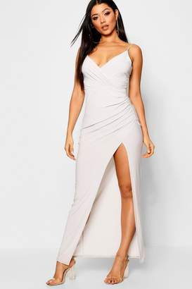 boohoo Wrap Detail Maxi Dress