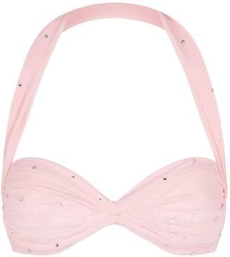 d73bd230b0faa5 Norma Kamali Rhinestone-Embellished Mesh Bikini Top