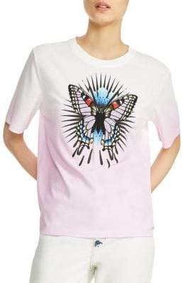 Maje Butterfly Graphic Tee