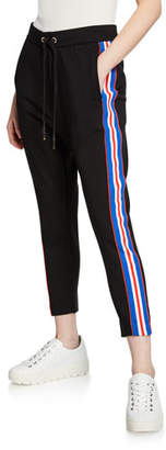 P.E Nation Court Run Ankle-Length Ponte Pants w/ Side Stripes