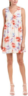 Peach Love Ca Floral Shift Dress