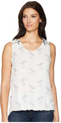 Cruel Polyester Chiffon Tank Top Bubble Hemline Women's Sleeveless