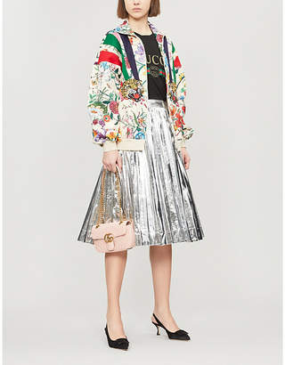 Gucci Floral-print jersey bomber jacket