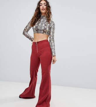 Sacred Hawk high waisted flared trousers in cord