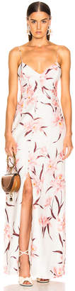 Zimmermann Corsage Slip Dress in Ivory & Peach Orchid | FWRD