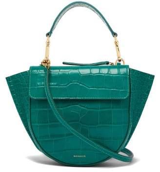 Hortensia Wandler Mini Crocodile Effect Leather Bag - Womens - Green