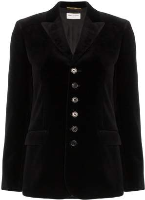 Saint Laurent velvet single-breasted blazer