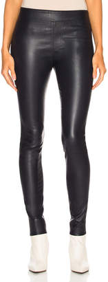 Helmut Lang Leather Legging in Nightfall | FWRD
