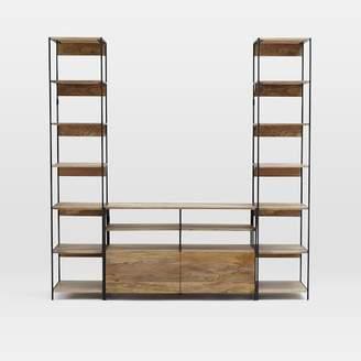 west elm Industrial Modular Media Set With Bookshelves