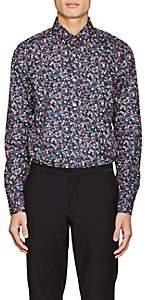 Paul Smith Men's Floral-Print Cotton Shirt - Navy