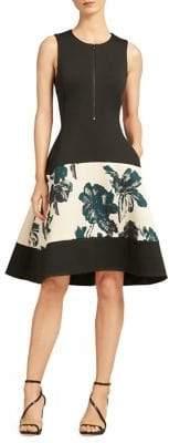 Donna Karan Floral Bell Dress