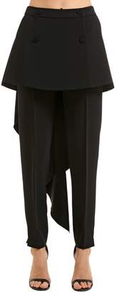 Antonio Berardi Stretch Cady Pants W/ Skirt Panels