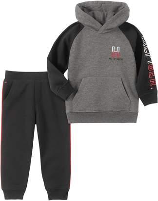 Tommy Hilfiger Little Boy's 2-Piece Cotton-Blend Fleece Hoodie Jogger Pants Set