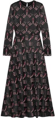 Valentino - Printed Crepe Midi Dress - Black $5,200 thestylecure.com