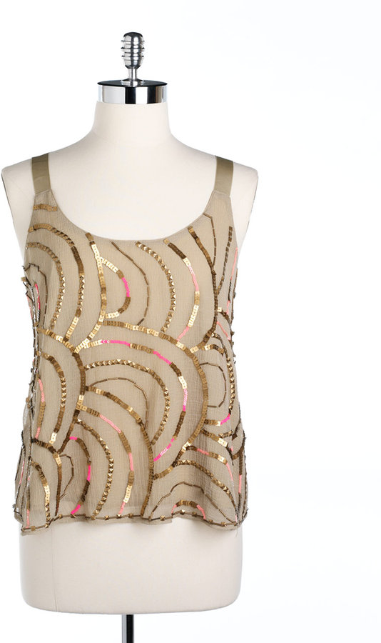 FREE PEOPLE Sequin Tank Top