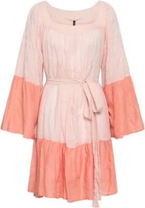 Lisa Marie Fernandez Striped Cotton-blend Gauze Coverup