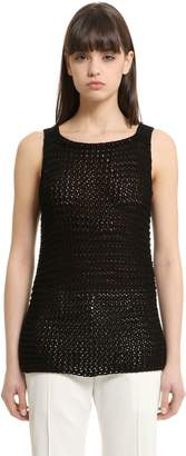 Calvin Klein Collection Cotton Knit Tank Top