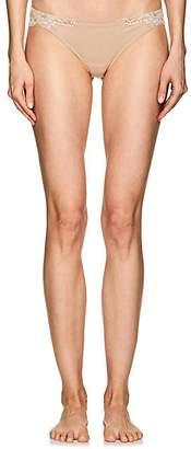 La Perla Women's Souple Cotton-Blend Jersey & Lace Thong - Nudeflesh