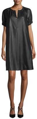 BCBGMAXAZRIA Women's Dina Faux-Leather Shift Dress