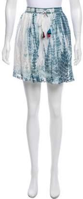 LoveShackFancy Tie-Dye Embroidery Skirt w/ Tags