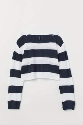 H&M Striped Sweater - Blue