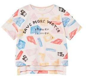 MANGO Message geometric print t-shirt