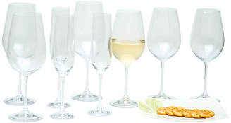 Asstd National Brand Red Vanilla Viola 18-pc. Assorted Wine Glass Stemware Set