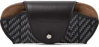 Ermenegildo Zegna Pelle Tessuta Leather Sunglasses Case