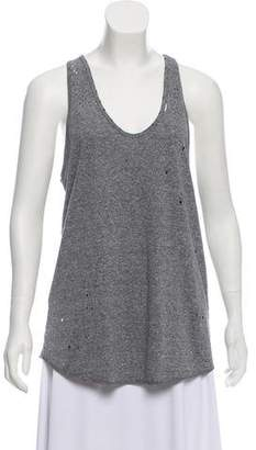 RtA Denim Distressed Sleeveless Top