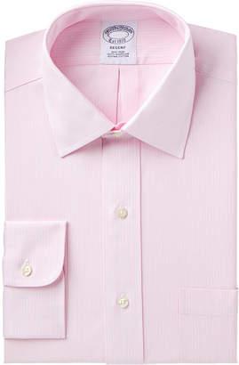 Brooks Brothers Men Regent Slim-Fit Non-Iron Pink Stripe Dress Shirt