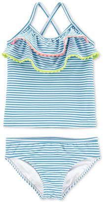Carter's Carter Toddler Girls 2-Pc. Striped Ruffled Tankini
