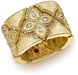Roberto Coin 18K Yellow Gold Venetian Princess Diamond Ring