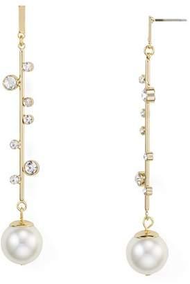 RJ Graziano Linear Simulated-Pearl Drop Earrings