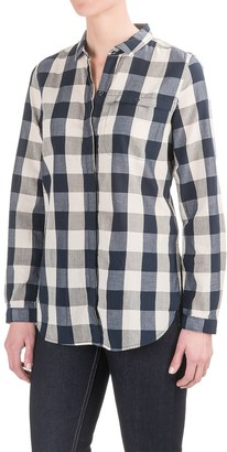 Woolrich Chambray Stag Buffalo Check Shirt - Snap Front, Long Sleeve (For Women) $29.99 thestylecure.com