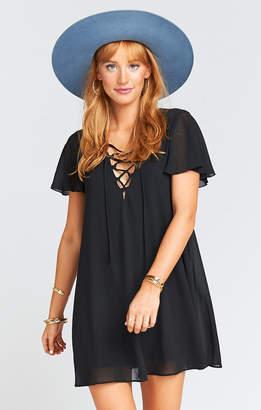 Show Me Your Mumu Kylie Lace Up Dress ~ Black Chiffon
