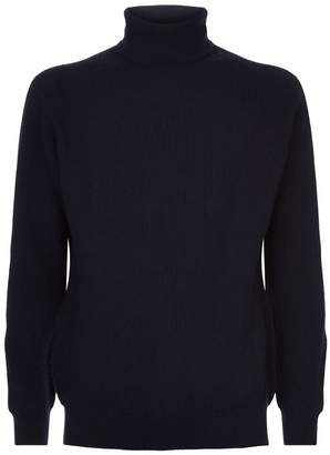 Johnstons of Elgin Ribbed Turtleneck Sweater