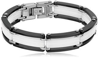 Cold Steel Black and White Link Bracelet
