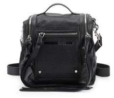 McQ Logo Leather Backpack