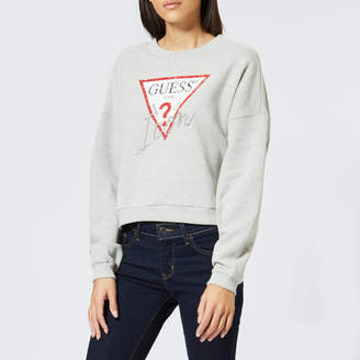 GUESS Women's Icon Fleece Sweatshirt