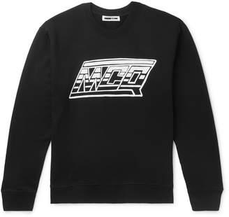 McQ Logo-Print Cotton-Jersey Sweatshirt - Men - Black