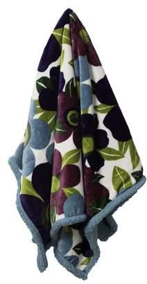 Vera Sue Floral Plush Fleece Throw