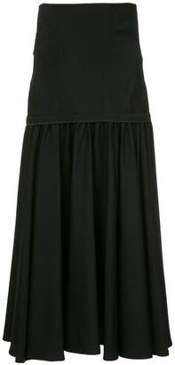 Yohji Yamamoto high-waisted pleated skirt