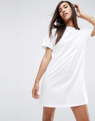 ASOS Ultimate T-Shirt Dress with Rolled Sleeves $24 thestylecure.com