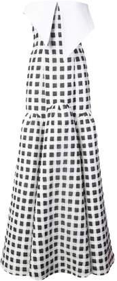 Natasha Zinko gingham strapless maxi dress